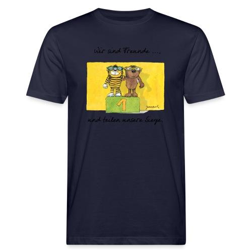 Janoschs 'Wir sind Freunde, und teilen ...' - Männer Bio-T-Shirt