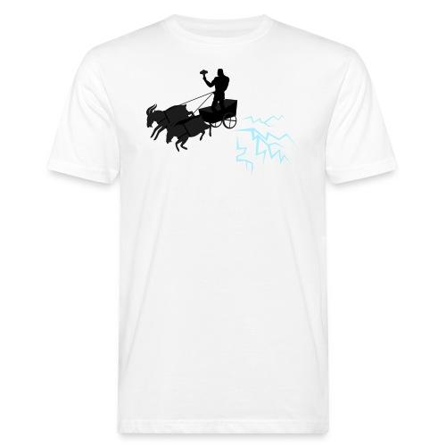 Åktor blå - Ekologisk T-shirt herr
