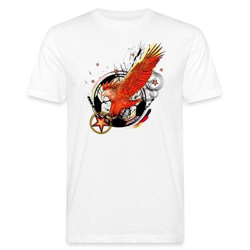 Adler mit Deutschland Stern - Männer Bio-T-Shirt