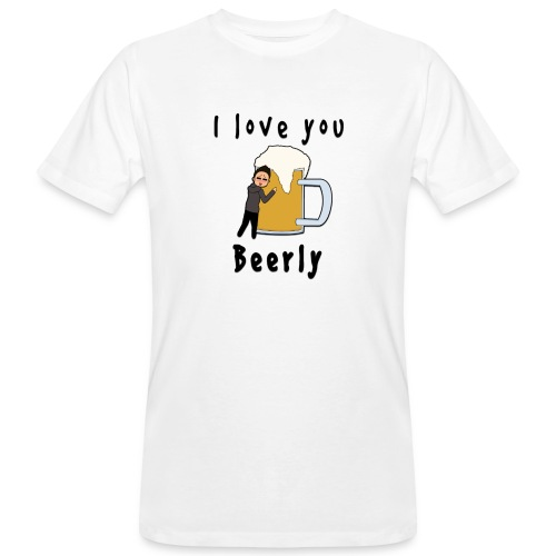 I-love-you-beerly - Men's Organic T-Shirt