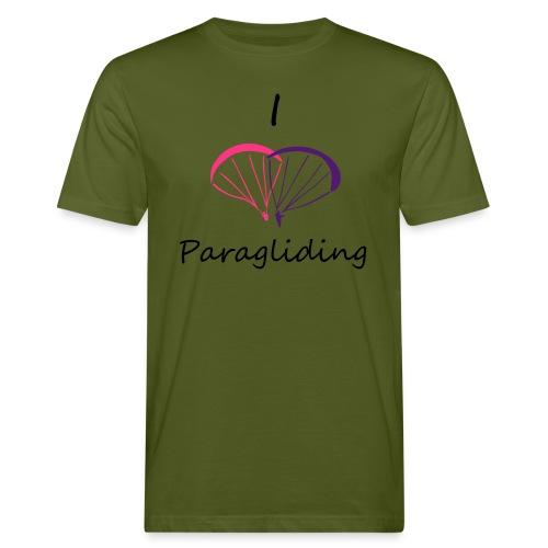 I Love Paragliding V2 - Men's Organic T-Shirt