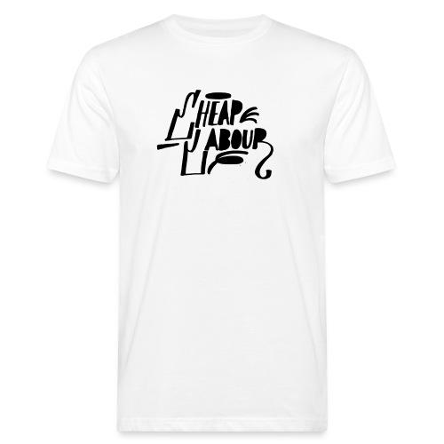 Cheap Labour Basic Logo (Black on White) - Ekologisk T-shirt herr