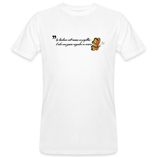 Papillon de bonheur - T-shirt bio Homme