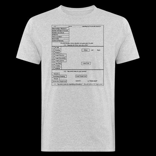 9-Line schwarz - Männer Bio-T-Shirt