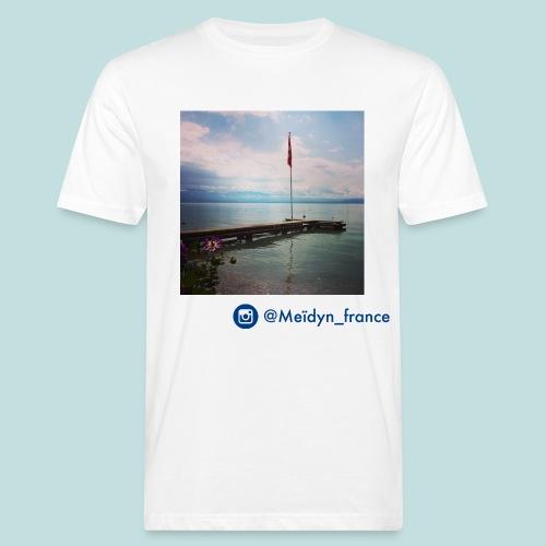 drapeau suisse lac léman - T-shirt bio Homme