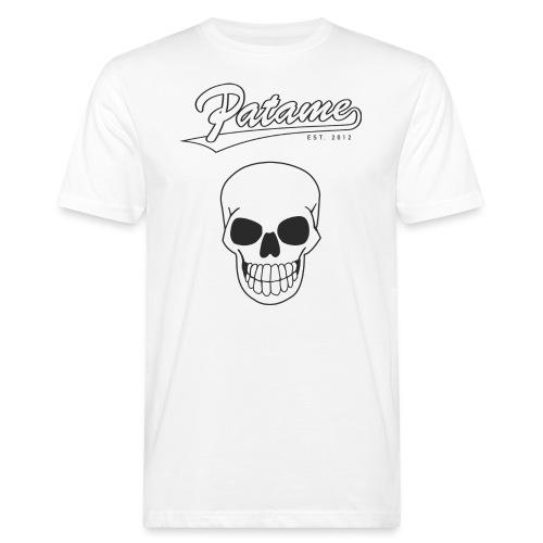 Patame White Black with Skull - Männer Bio-T-Shirt
