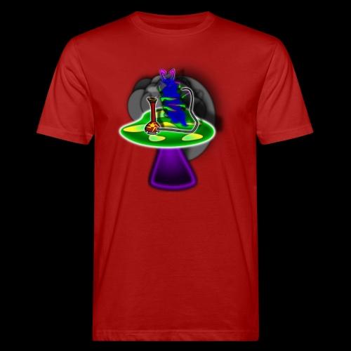 Hookah rauchende Raupe - Männer Bio-T-Shirt