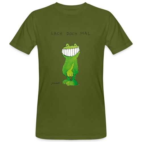 Janoschs Günter Kastenfrosch Just Smile - Männer Bio-T-Shirt