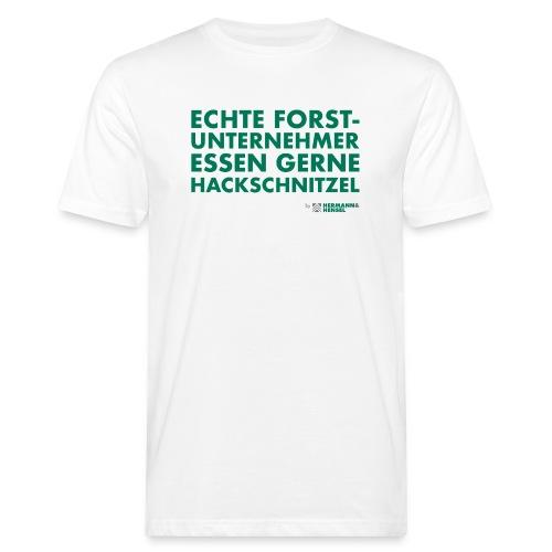 Forstunternehmer | Hackschnitzel - Männer Bio-T-Shirt