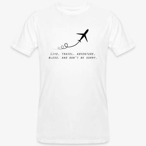 Travel Quotes 2 - Men's Organic T-Shirt