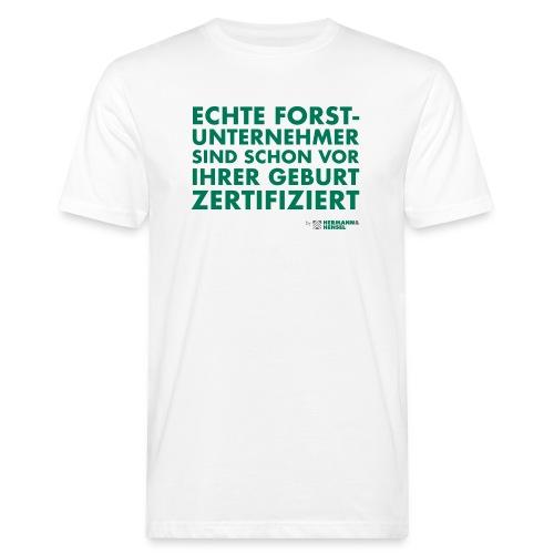 Forstunternehmer | Zertifiziert - Männer Bio-T-Shirt