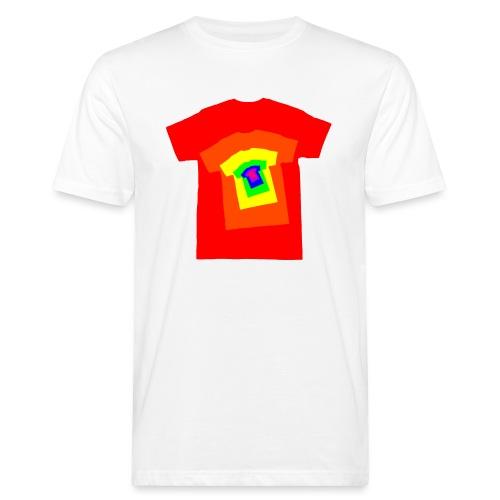Rainbow T Shirt Spiral - Men's Organic T-Shirt