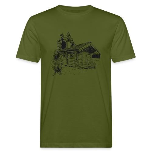The sauna is my happy place - Men's Organic T-Shirt