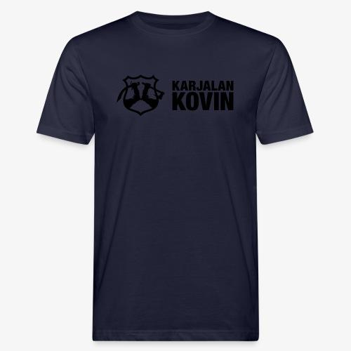 karjalan kovin logo vaaka musta - Miesten luonnonmukainen t-paita