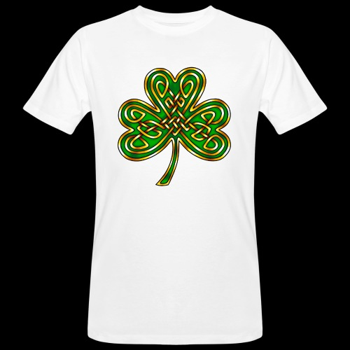 Celtic Knotwork Shamrock - Men's Organic T-Shirt