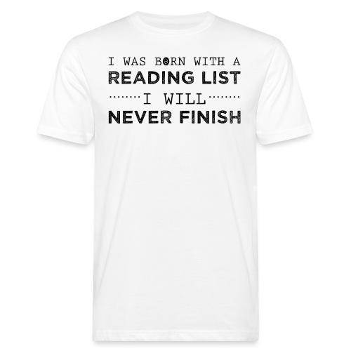 0193 Stapel ungelesener Bücher | Lesen | Leser - Men's Organic T-Shirt