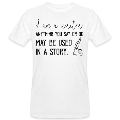 0266 writer | Author | Book | history - Men's Organic T-Shirt