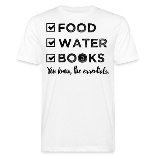 0261 Books, Water & Food - You understand? - Men's Organic T-Shirt