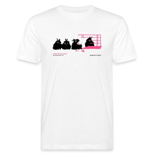 gegen käfighaltung auf weiß j - Männer Bio-T-Shirt