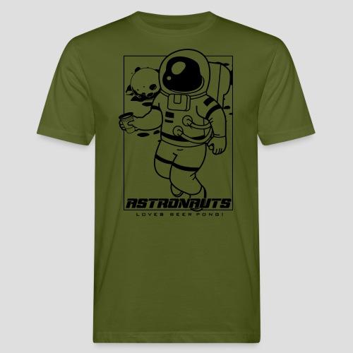 Astronauts loves Beerpong - Männer Bio-T-Shirt