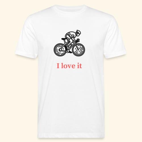 I love my bicycle - Ekologiczna koszulka męska