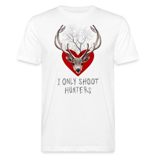 HERT rood hart op wir - Men's Organic T-Shirt