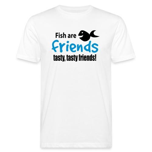 Fisk er venner - Økologisk T-skjorte for menn