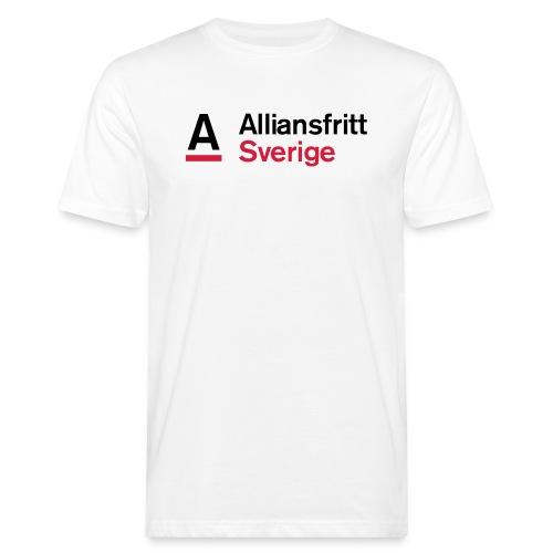 Alliansfritt Sverige Logo 2013 Färg invertera - Ekologisk T-shirt herr
