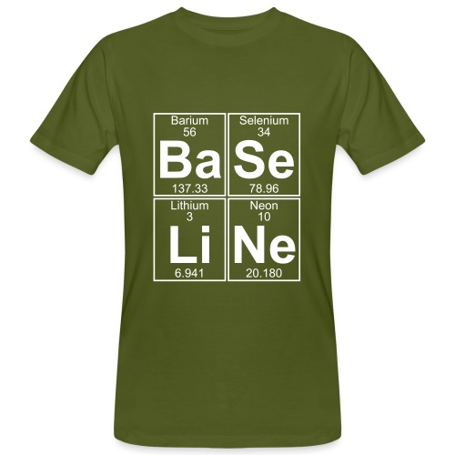 Ba-Se-Li-Ne (baseline) - Full - Men's Organic T-Shirt
