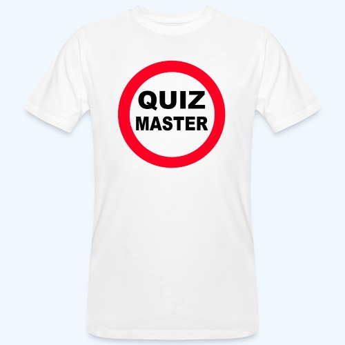 Quiz Master Stop Sign - Men's Organic T-Shirt