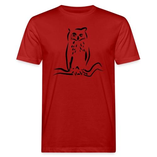 Gufo - T-shirt ecologica da uomo