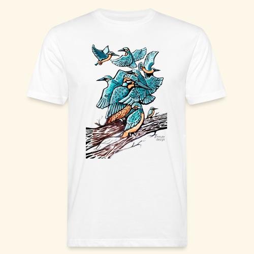 Eisvogel Rudel - Männer Bio-T-Shirt