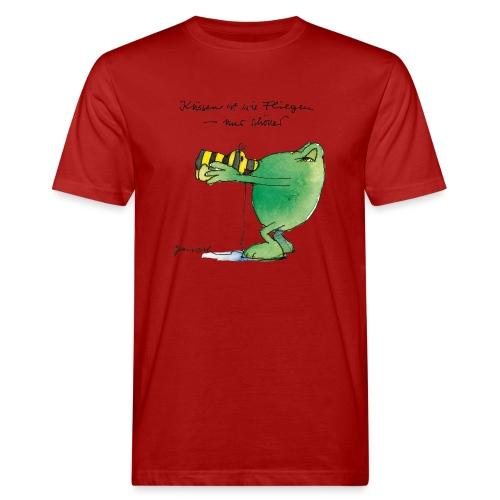 Janosch Frosch 'Küssen ist wie ...' - Männer Bio-T-Shirt