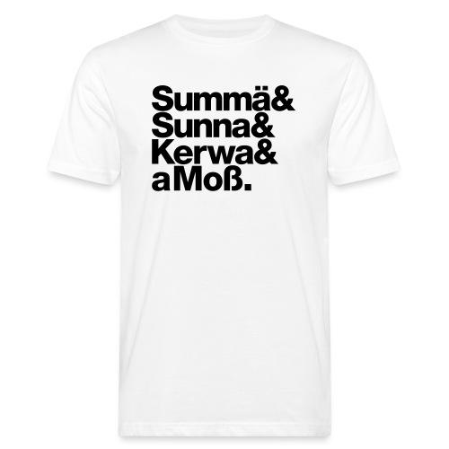 Summä Sunna Kerwa und aMo - Männer Bio-T-Shirt