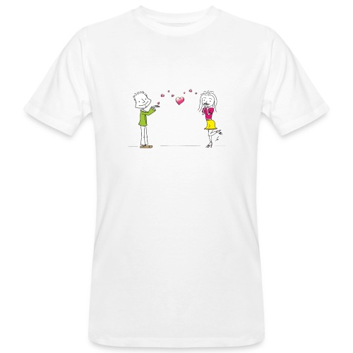 Happiness - Männer Bio-T-Shirt