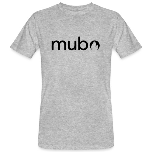 mubo Logo Word Black - Men's Organic T-Shirt