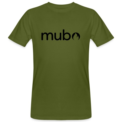 mubo Logo Word Black - Men's Organic T-Shirt
