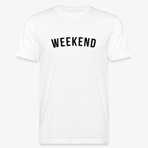 WEEKEND BLACK - Men's Organic T-Shirt