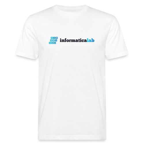 InformaticaLab logo for white background - T-shirt ecologica da uomo