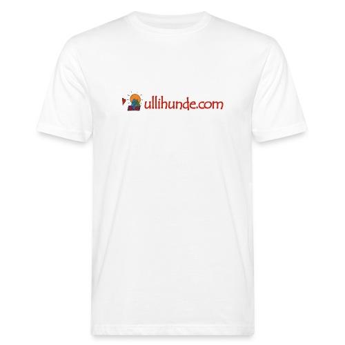 Ullihunde Schriftzug mit Logo - Männer Bio-T-Shirt