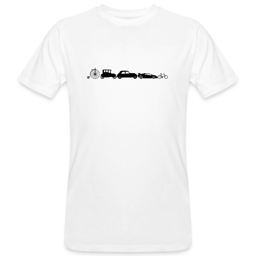 evolution of vechicles - Mannen Bio-T-shirt