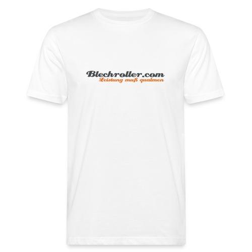 blechroller logo - Männer Bio-T-Shirt