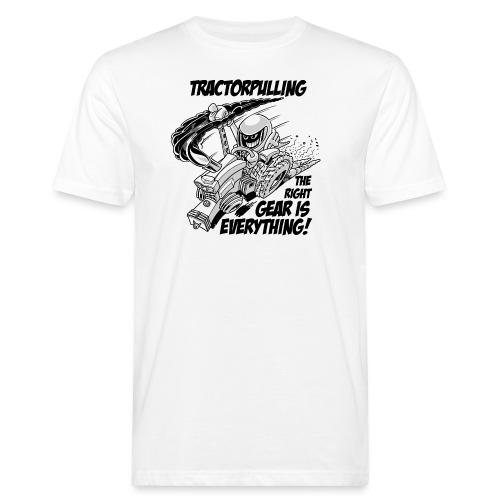 0966 tractorpulling BW - Mannen Bio-T-shirt