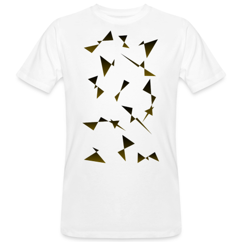 T4Y Triangle Gold - Männer Bio-T-Shirt