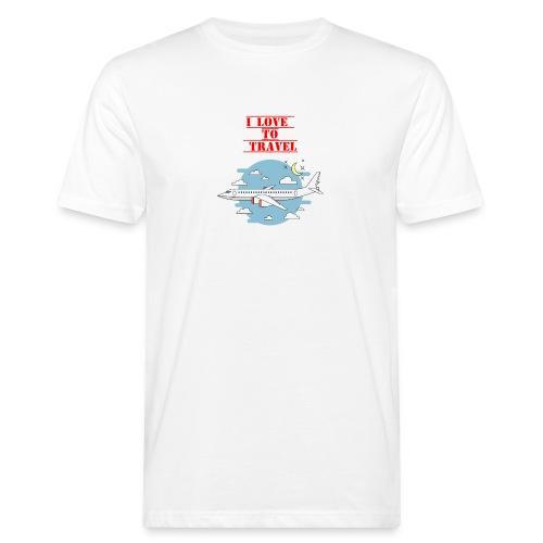 I Love To Travel - T-shirt ecologica da uomo