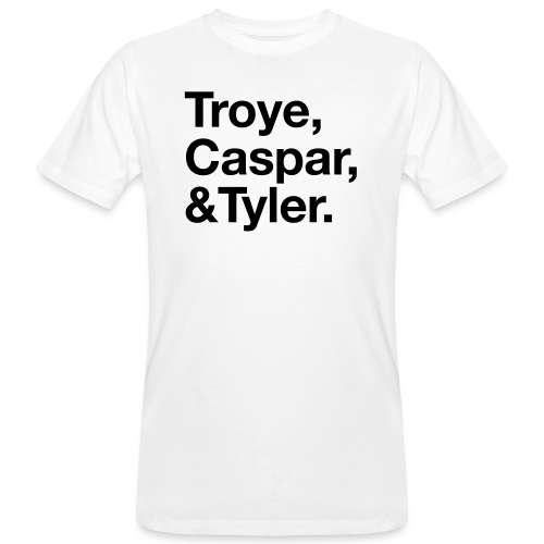 TROYE CASPAR AND TYLER - YOUTUBERS - T-shirt ecologica da uomo