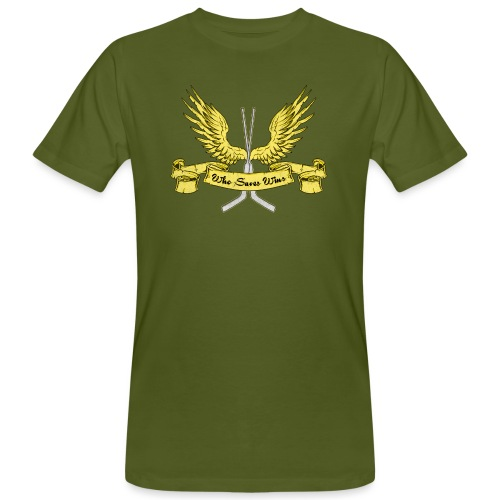 Who Saves Wins, Hockey Goalie - Men's Organic T-Shirt