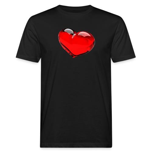 serce 3D - Ekologiczna koszulka męska