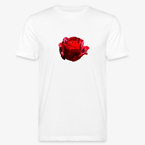 Red Rose - Männer Bio-T-Shirt
