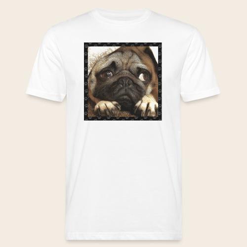 Mops Hund 1 - Männer Bio-T-Shirt